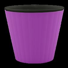 Вазон «Ибис» с двойным дном 17,9*14,7 см 2,3 л (тёмно-сиреневый/черный) Алеана 114036