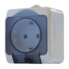 Розетка с прозрачной крышкой 2Р+PE РЗ16-З-IP44N АСКО
