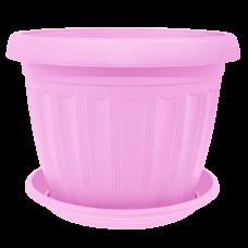 Вазон с подставкой «Терра» 17*13 см 1,6 л (розовый) Алеана 112067