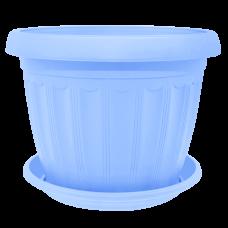 Вазон с подставкой «Терра» 14*11 см 0,8 л (голубой) Алеана 112068