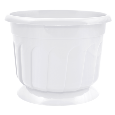 Вазон c подставкой «Рина» 24*18 см 4,5 л (белый) Алеана 112053