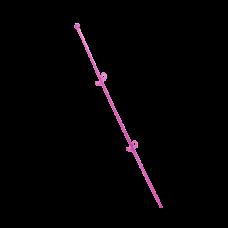 """Опора для орхидей """"Сфера"""" 56 см (малиновый прозрачный PS) Алеана 114044"""