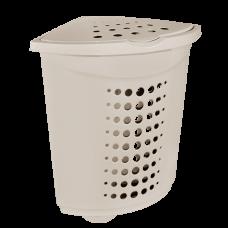 Корзина для белья угловая 45 л (кремовый) Алеана 122051