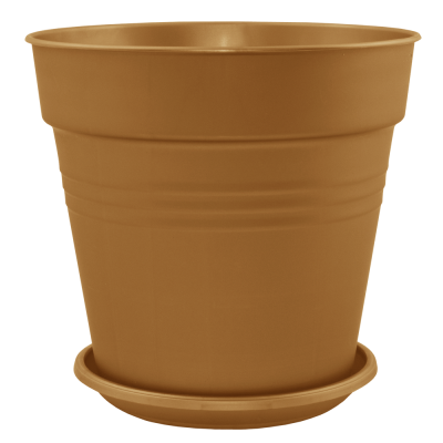 Вазон с подставкой «Глория» 11*10,5 см 0,6 л (бронзовый) Алеана 114015