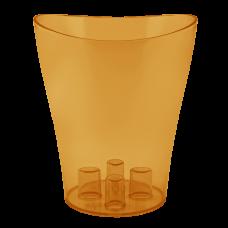 """Вазон для орхидей """"Ника"""" 16*19 см 2 л (янтарный PS) Алеана 114051"""