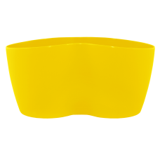 Вазон кактусник 2 растения 18*10,5*9 см 0,9 л (тёмно-жёлтый) Алеана 113052