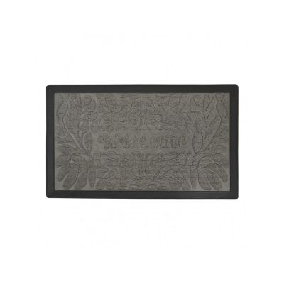 Коврик придверный с узором Welcome серый, полипропилен, ТМ МД,45*75 см