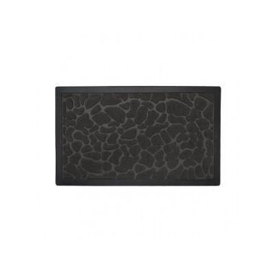 Коврик квадратный придверный полипропилен, черный, ТМ МД, 60*90 см