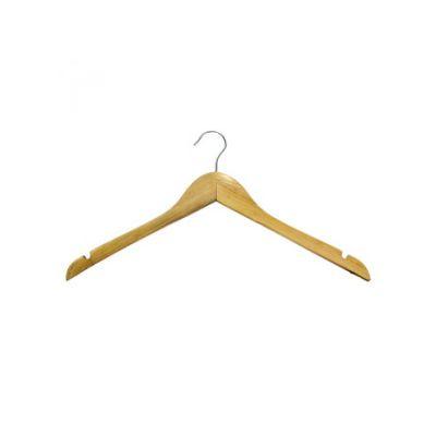 Вешалка одежная, ТМ МД, с нарезами, без перекладины, 12mm толщ.