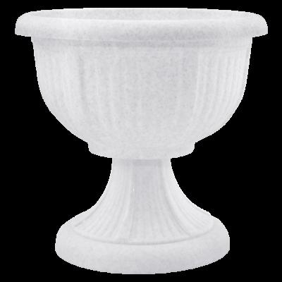 Вазон с подставкой «Леон» 31*29,5 см 6 л (белый флок) Алеана 114003