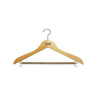 Вешалка буковая для костюмов, рубашек и юбок, 44,0 х 1,2 см, VILAND