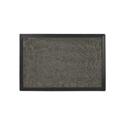 Коврик придверный с узором камушки серые, полипропилен, ТМ МД, 40*60 см