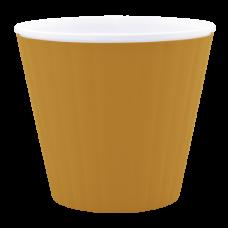 Вазон «Ибис» с двойным дном 15,7*13 см 1,6 л (бронзовый/белый) Алеана 114034
