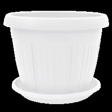Вазон c подставкой «Николь» 28*21 см 5,5 л (белый) Алеана 113004