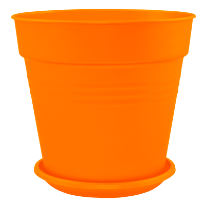 Вазон с подставкой «Глория» 11*10,5 см 0,6 л (оранжевый) Алеана 114015