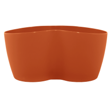Вазон кактусник 2 растения 18*10,5*9 см 0,9 л (терракот) Алеана 113052