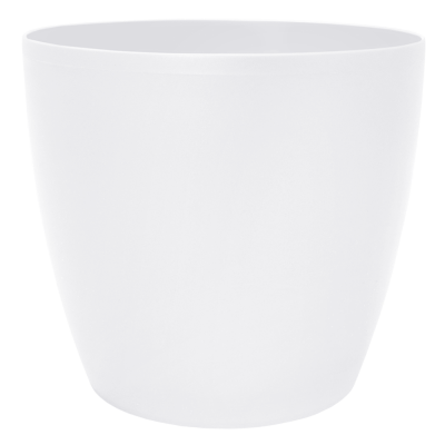 Вазон «Матильда» с поливом и дренажом 12*11 см 0,9 л (белый) Алеана 114092