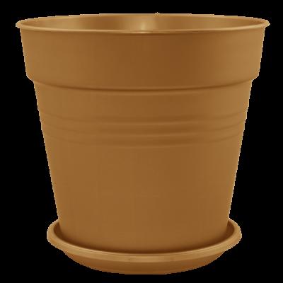 Вазон с подставкой «Глория» 19*18 см 3,1 л (бронзовый) Алеана 114018