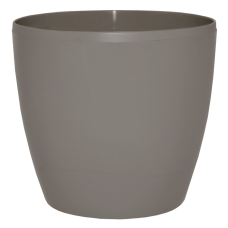 Вазон «Матильда» с поливом и дренажом 20*18 см 4,1 л (тёмно-серый глиттер) Алеана 114094