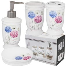 Набор аксессуаров для ванной комнаты Цветочные шарики SnT 888-085