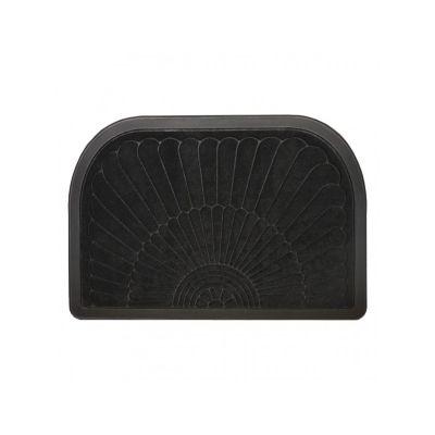 Коврик придверный овальный, с кромкой черный, ТМ МД, 40*60
