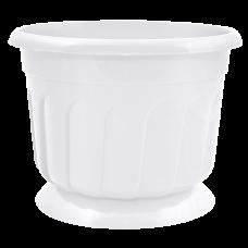 Вазон c подставкой «Рина» 28*22 см 8 л (белый) Алеана 112052