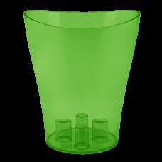 """Вазон для орхидей """"Ника"""" 16*19 см 2 л (зеленый прозрачный PS) Алеана 114051"""