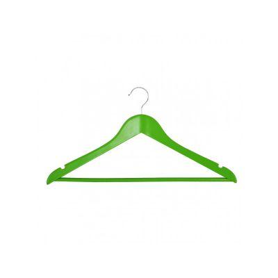 Вешалка EVERYDAY, ТМ МД, одежная, зеленая, 44,5 х 23 х 1,2 см