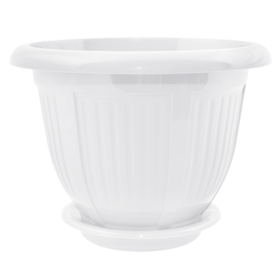 Вазон с подставкой «Волна» 44*34 см 25 л (белый) Алеана 112041