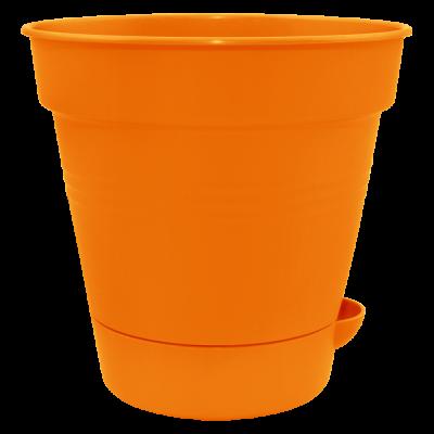 """Вазон с поливом """"Глория"""" 12*11,5 см 0,7 л (оранжевый) Алеана 114020"""