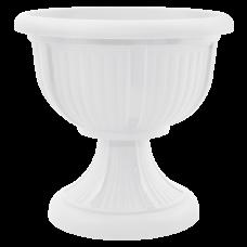 Вазон с подставкой «Леон» 31*29,5 см 6 л (белый) Алеана 114003