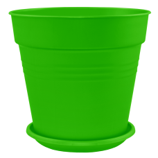 Вазон с подставкой «Глория» 11*10,5 см 0,6 л (светло-зеленый) Алеана 114015