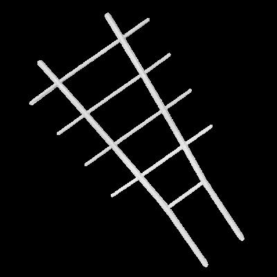 Лесенка для цветов 57*0,8*31 см (белый флок) Алеана 112051