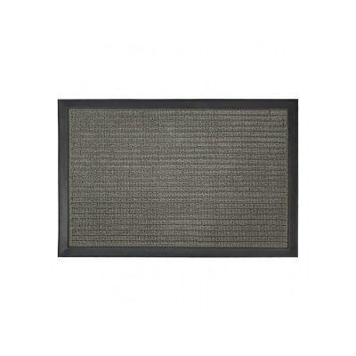 Коврик придверный с узором серый, полипропилен, ТМ МД, 40*60 см