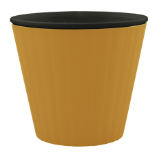 Вазон «Ибис» с двойным дном 15,7*13 см 1,6 л (бронзовый/черный) Алеана 114034