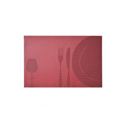 Коврик сервировочный под столовые приборы, бордо жаккард, 30х45 см, ТМ МД