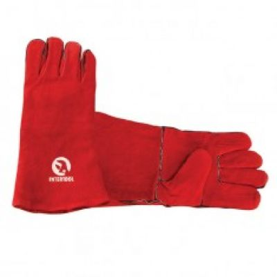 Перчатка замшевая 14 красная INTERTOOL SP-0156