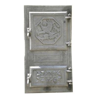 Дверца чугунная спаренная 490х270 мм Бучач ДТП-2
