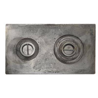 Плита чугунная двухкомфорочная 710*410 земляная Винница