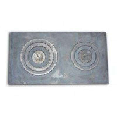 Плита чугунная двухкомфорочная 710*410 земляная Господарське литво
