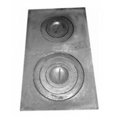 Плита чугунная двухкомфорочная 710*410 земляная Конист 06