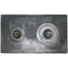 Плита чугунная двухкомфорочная 710*410 земляная Водолей ЯП