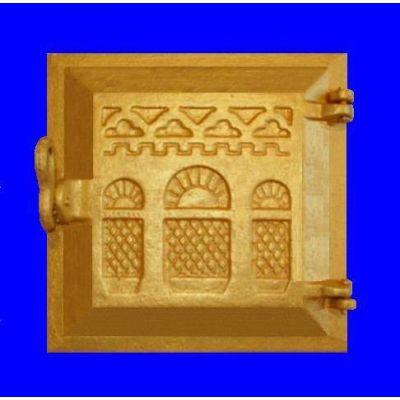 Дверца чугунная топочная 240х240 мм Тячив Конист