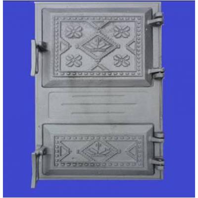 Дверца чугунная спаренная Вышиванка 490х270 Конист