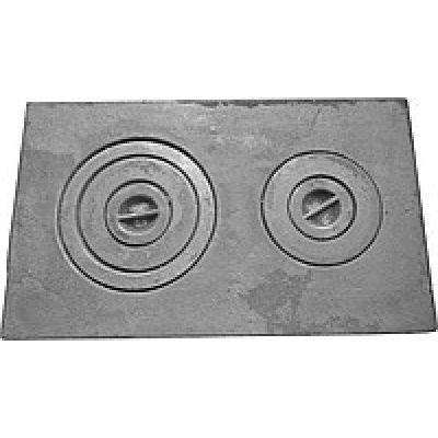 Плита чугунная двухкомфорочная 710*410 земляная ПД-3