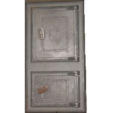 Дверца чугунная спаренная Огонёк 485х260 мм Украина