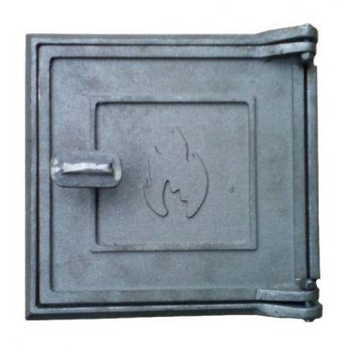 Дверца чугунная топочная Огонёк 220х210 мм Украина