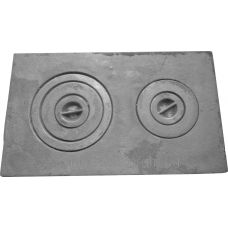 Плита чугунная двухкомфорочная 580*340 земляная Конист ПД-2