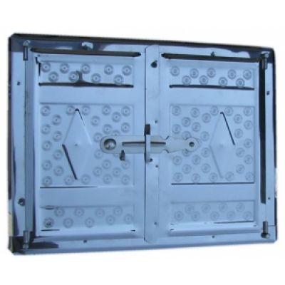 Дверца печная нержавеющая сталь 465х352 мм Водолей ЯП