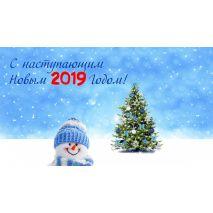 Поздравление и график работы в новогодние праздники 2019